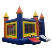 Castle Bounce and Slide Blue